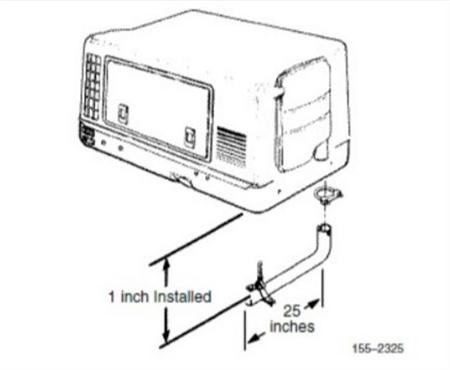 Onan 155-2325 Generator Exhaust Tube Kit