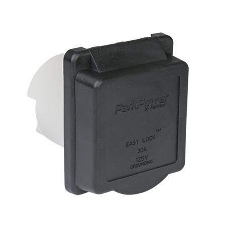 ParkPower 30ARVIB Weekender 30 Amp 125V Power Inlet - Black