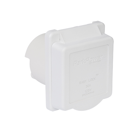 ParkPower 30ARVIW Weekender 30 Amp 125V Power Inlet - White