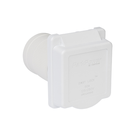 ParkPower 50ARVIW Weekender 50 Amp 125V/250V Power Inlet - White