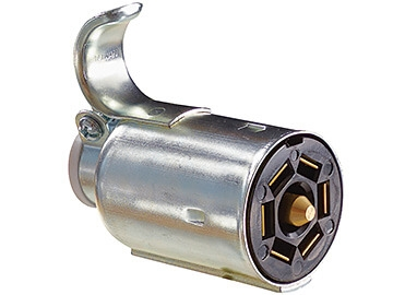 Pollak P702 7-Way Connector Plug - Chrome Plated