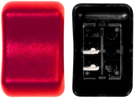 Valterra DG2A31VP Contour On/Off Rocker Switch SPST - Red Lamp
