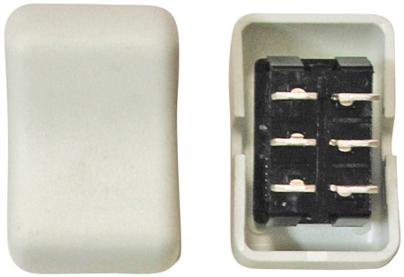 Diamond Group 2E-21 Contour On/On Rocker Switch DPDT - Biscuit