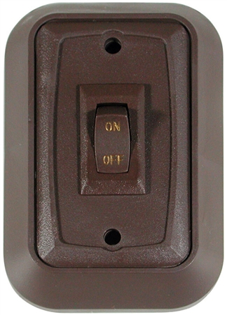Diamond Group BZ7118 SPST On/Off Wall Plate Switch - Brown