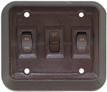 Valterra DGZ731VP SPST Triple On/Off Wall Plate Switch - Brown