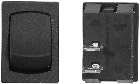 Diamond Group L2-10C 12V Mini Momentary Off/On SPST Switch - Black