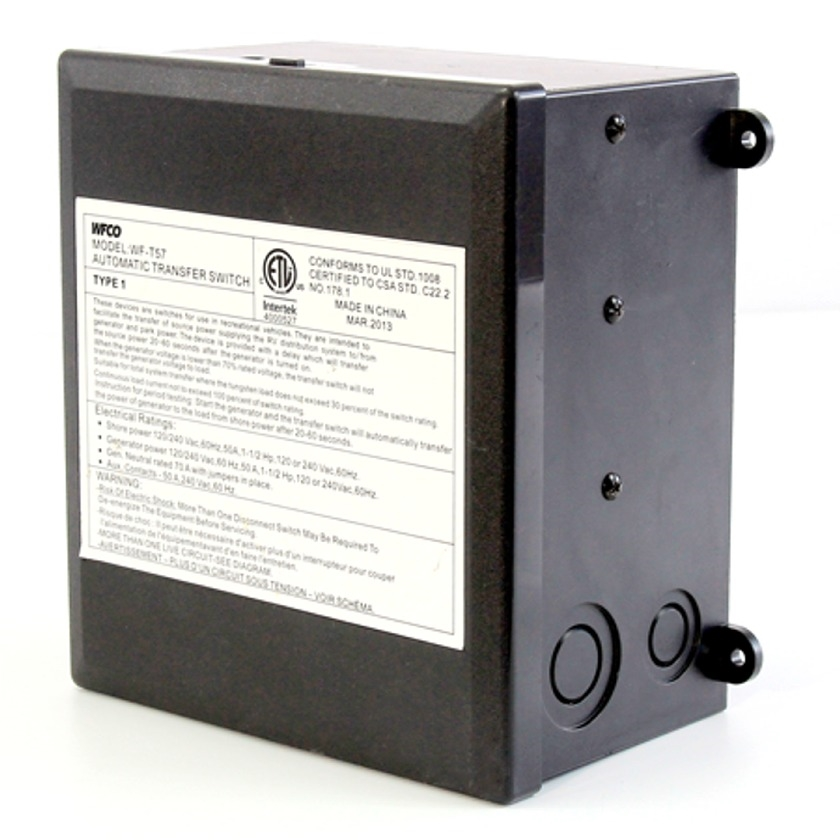 wfco t 57 r automatic power transfer switch 50 amp