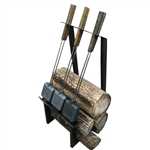 Rome Industries 1986 Firewood And Pie Iron Rack