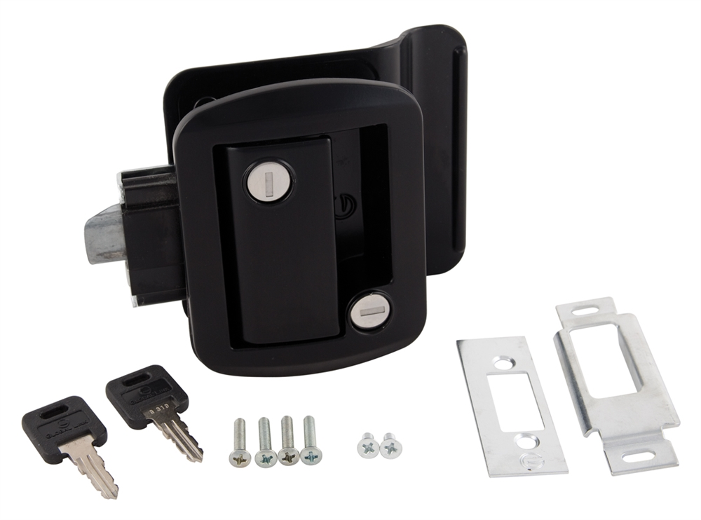 Global Link Ttl 43610 2006 Rv Entry Door Lock With Keys Black