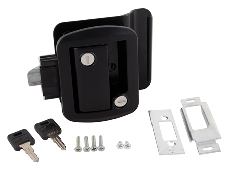 Global Link TTL-43610-2006 RV Entry Door Lock With Keys - Black