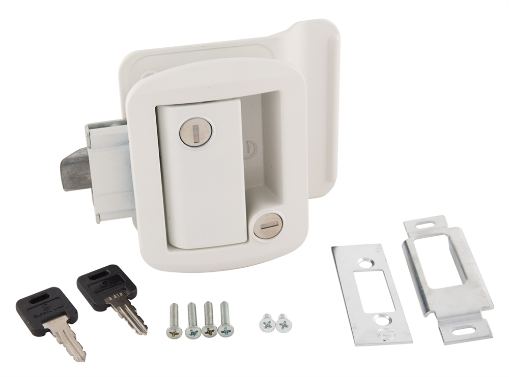 Global Link Ttl 43610 9009 Rv Entry Door Lock With Keys White