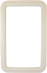"Valterra A77007 RV Entry Door Exterior Window Frame For 12"" x 21"" Glass - Ivory"
