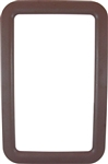 "Valterra A77009 RV Entry Door Exterior Window Frame For 12"" x 21"" Glass - Brown"