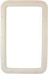 "Valterra A77011 RV Entry Door Interior Window Frame For 12"" x 21"" Glass - Ivory"