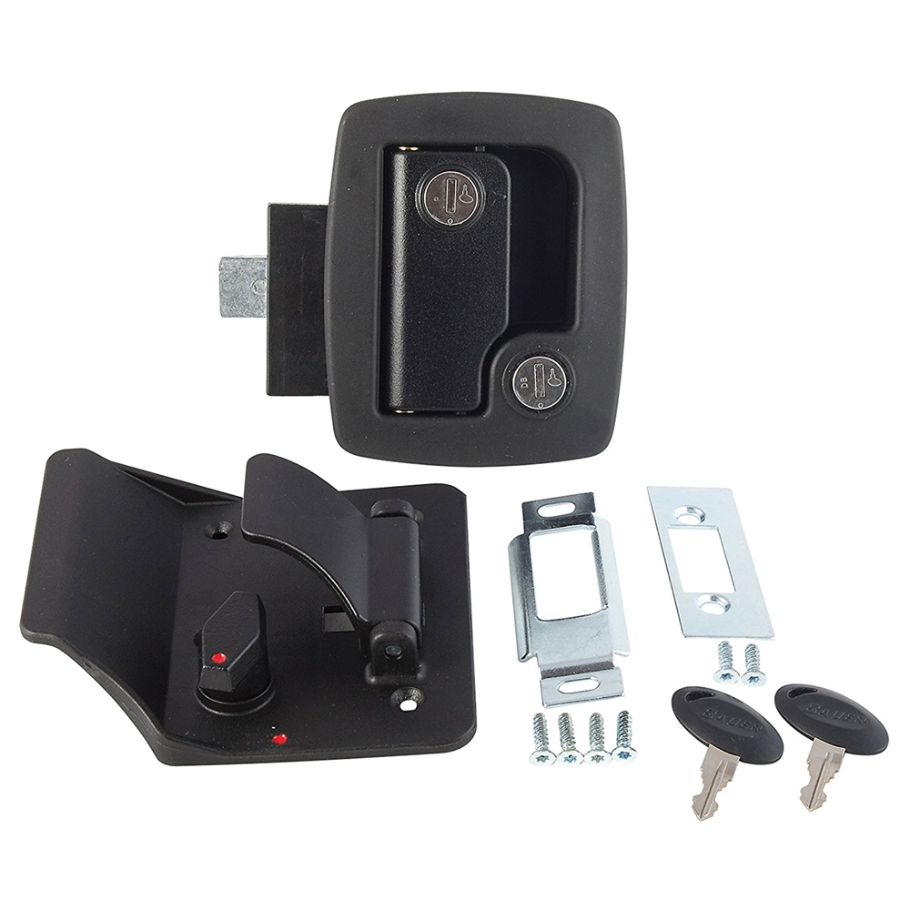 AP Products 013-520 Bauer RV Entry Door Lock With Keys - Black