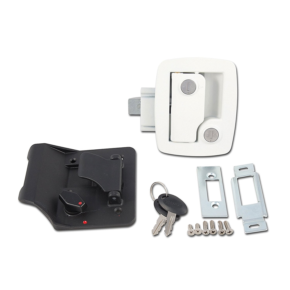 Ap Products 013 534 Bauer Rv Entry Door Lock With Keys White