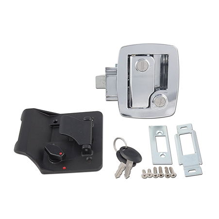 AP Products 013-535 Bauer RV Entry Door Lock With Keys - Chrome