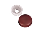 RV Designer H605 RV Finish Caps With Collars - Brown - 14 Pack