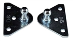 JR Products BR-1020 Gas Spring Flat Mounting Brackets
