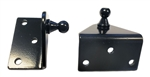 JR Products BR-1060 Gas Spring L-Shaped Angled Mounting Brackets