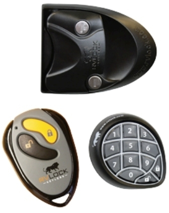 Mobile Outfitters 297214 RVLock Keyless RV Door Lock - Black