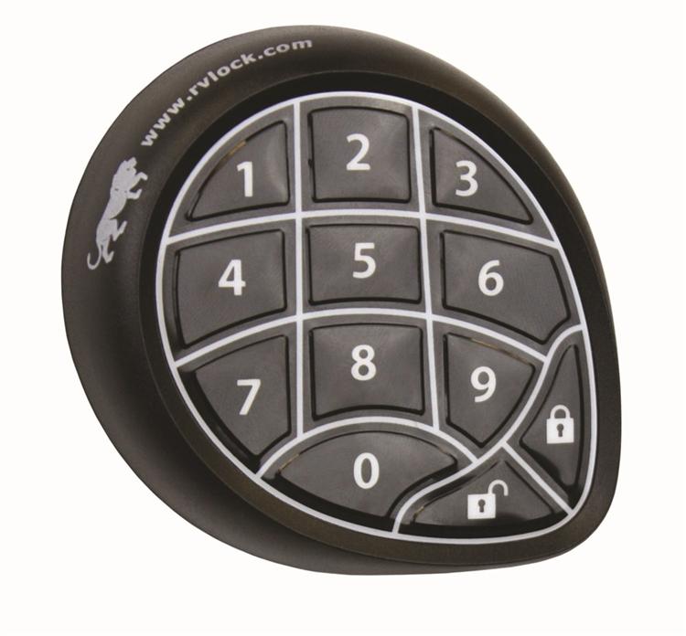 Mobile Outfitters 297214 Rvlock Keyless Rv Door Lock Black