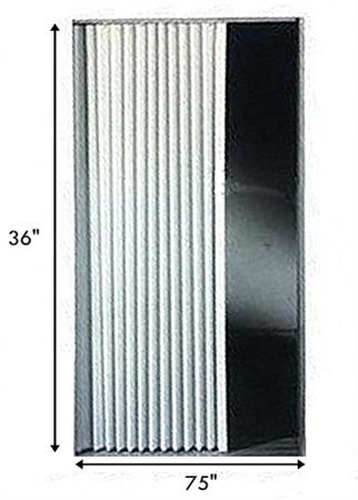 Irvine 3675fwb Rv Pleated Folding Door 36 Quot X 75 Quot White