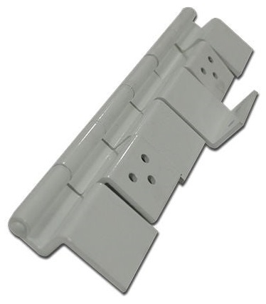 Lippert 198295 RV 6 Leaf Entry Door Hinge Assembly - White