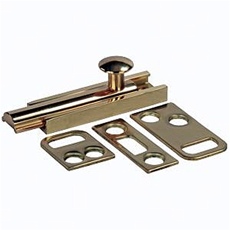 JR Products RV Brass Surface Bolt