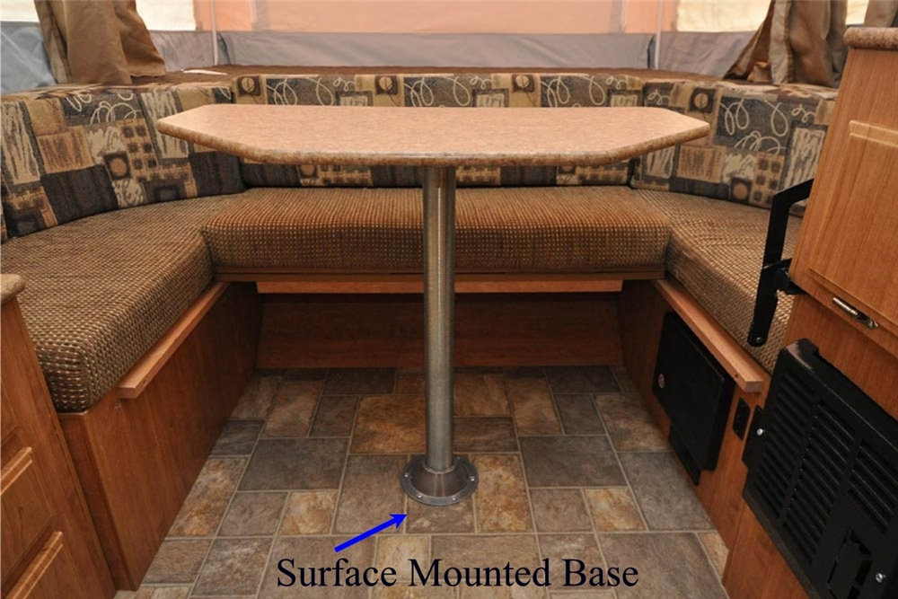 ap products 013 956 31 5 rv dinette table leg post rh rvupgradestore com rv dinette table top rv dinette tablecloth