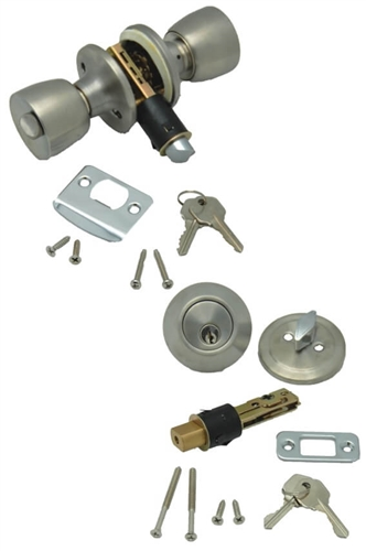 AP Products 013-234-SS Combo Lock Set - Stainless Steel