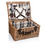 Picnic Time Bristol Picnic Basket - Blue, Navy and Maroon Plaid