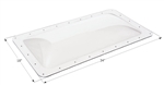 "ICON 01848 RV Rectangle Skylight 18"" x 34"" - Clear"