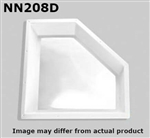"Specialty Recreation NN208D Neo-Angle Inner RV Skylight 20"" x 8"" - Clear Bubble"
