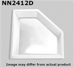 "Specialty Recreation NN2412D Neo-Angle Inner RV Skylight 24"" x 12"" - Clear Bubble"