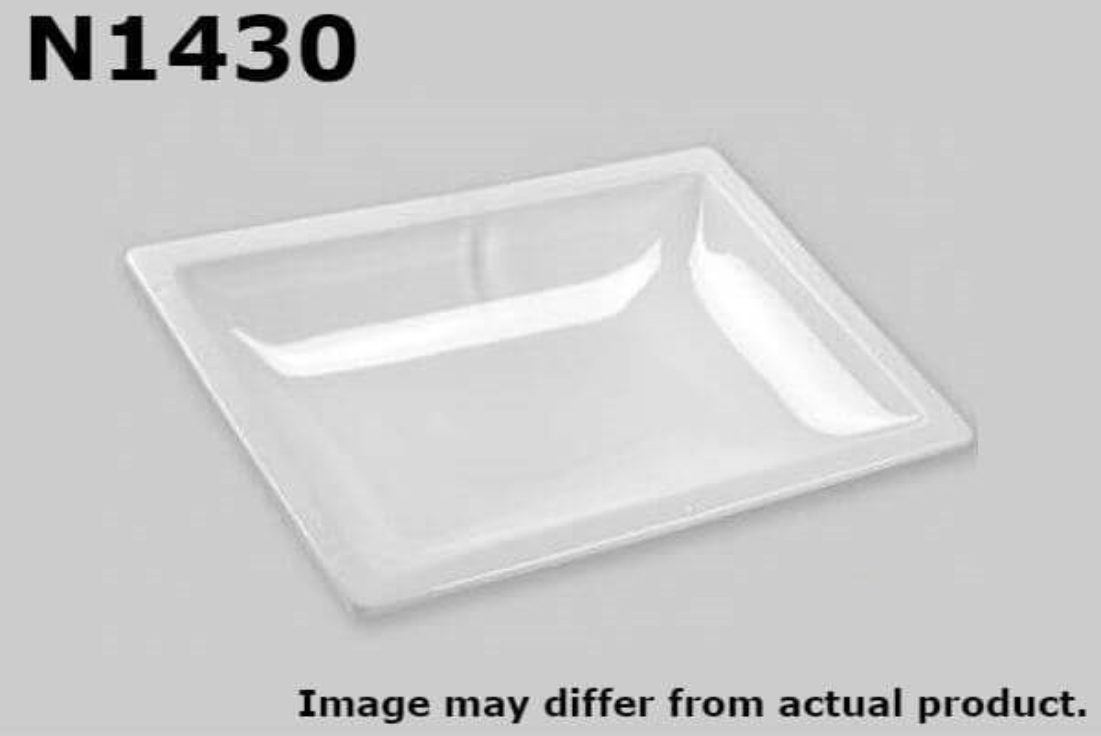 "White Specialty Recreation Inner Garnish Dome 14/"" x 22/"""