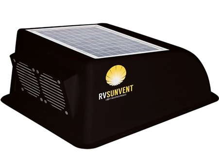Stoett Sto Rvb100bk Rv Sunvent Solar Powered Rv Vent Cover