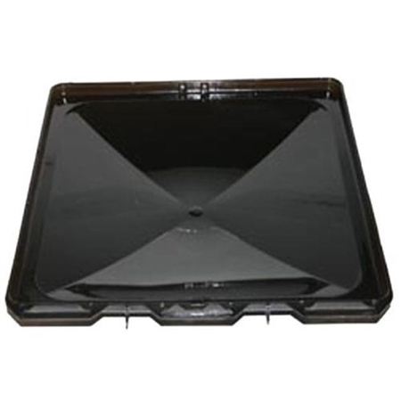 Heng's J7291RSM-C Replacement Vent Lid for Jensen Metal Base RV Vent - Smoke