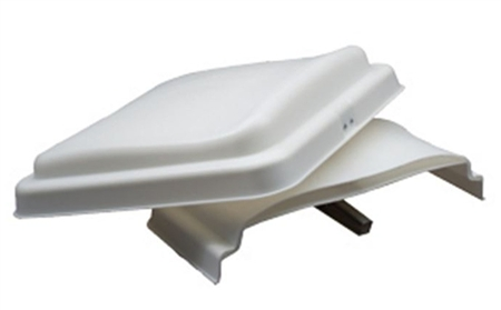 "Heng's 90110-C1DL White Replacement Thermal Pane Roof Vent Lid - 14"" x 14"""