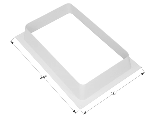 "ICON 01936 RV Skylight White Inner Garnish - 22"" x 14"""