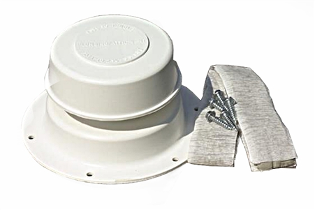 Camco 40033 Plumbing Vent Kit- Polar White