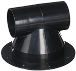 Vac-U-Jet VUJB RV Roof Vent - Black