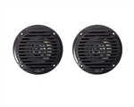 Jensen MS5006BR Dual Cone Waterproof Speakers - Black