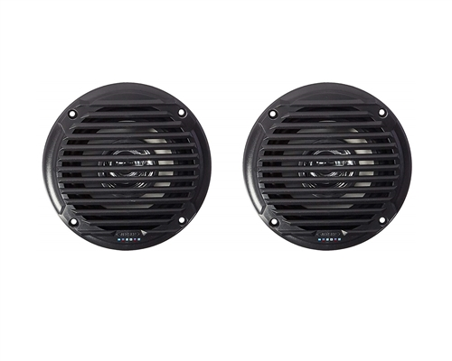 "Jensen 5.25"" Black Dual Cone Waterproof Speakers"