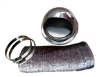 Pinnacle 18-1064 Outside RV Dryer Vent Kit with Damper - Stainless Steel