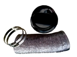 Pinnacle 18-1065 Outside RV Dryer Vent Kit with Damper - Black