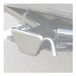 Curt 22100 Steel Hitch Tube Cover - Chrome - 2""