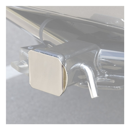 "Curt 2"" Square Steel Hitch Tube Cover - Chrome"