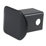 Curt 22180 Plastic Receiver Tube Cover - Black - 2""