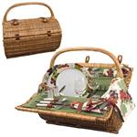 Picnic Time 223-25-515-000-0 Barrel - Pine Green W/Nouveau Grape